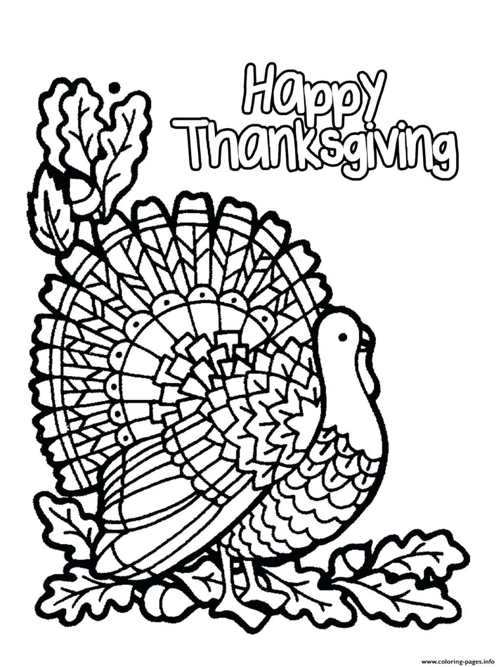 1024x1363 Coloring Page ~ Coloring Page Turkey Drawing Outline Printable