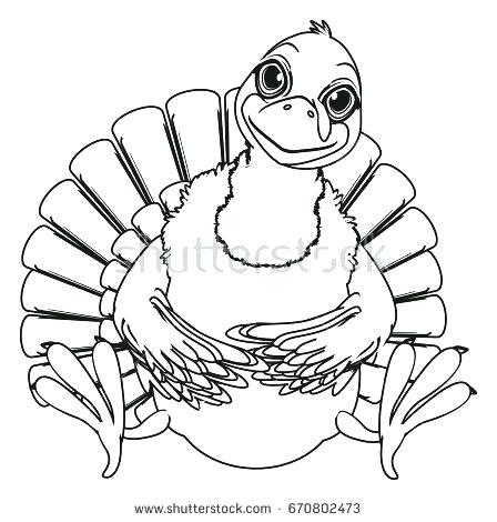 448x470 Coloring Turkey Coloring Turkey Cute Turkey Pictures Thanksgiving