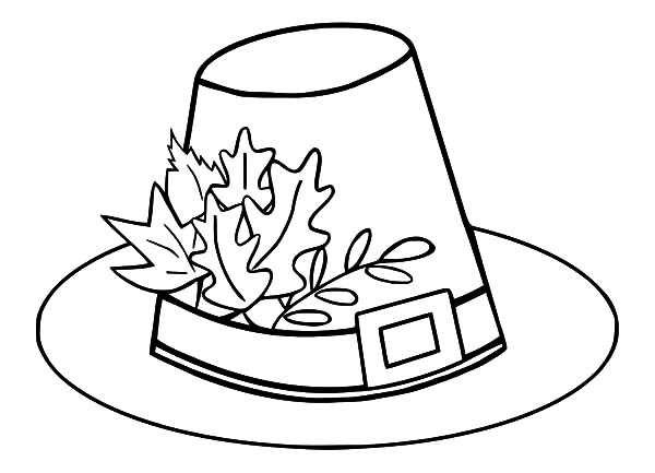 600x433 Pilgrim Hat Coloring Page Turkey Leg And Pilgrim Hat Coloring Page