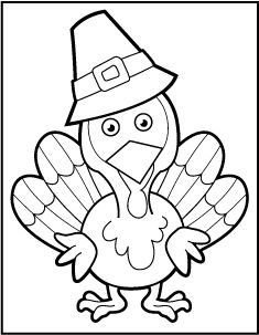 235x303 8 free printable thanksgiving coloring pages holidays - Free Coloring Pages Turkey
