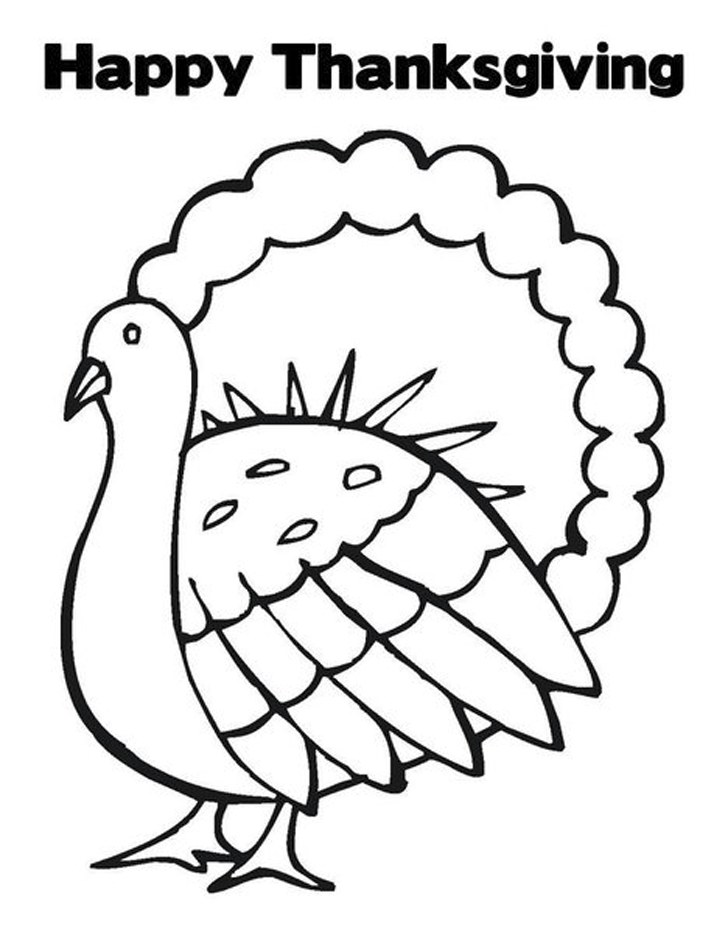 728x941 Pictures Of Turkeys To Color For Thanksgiving
