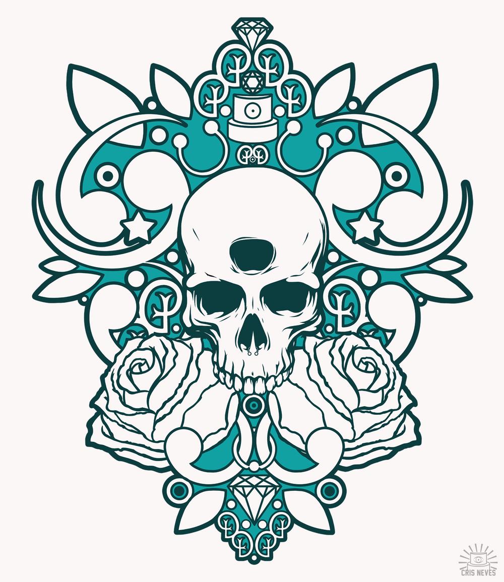 1000x1155 Turquoise Skull Drawings Tatoo