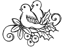 200x150 Turtledoves Coloring Pages
