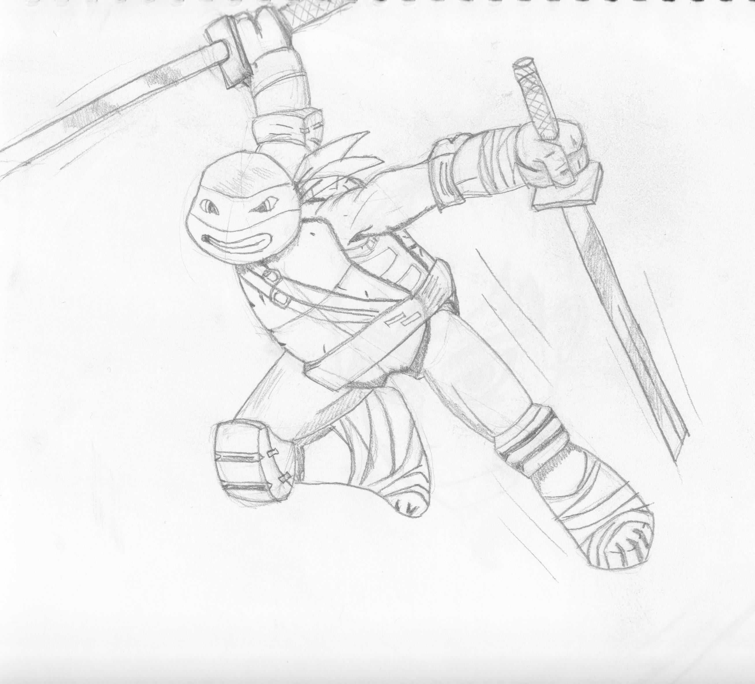 2613x2369 How To Draw Ninja Turtles Nickelodeon Style
