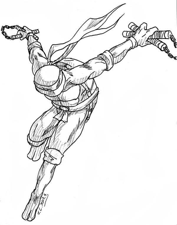 600x763 Ninja Turtle Michelangelo By J C