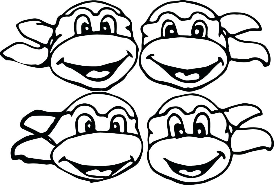 945x637 Tmnt Coloring Pages Games Astonishing Ninja Turtles Head