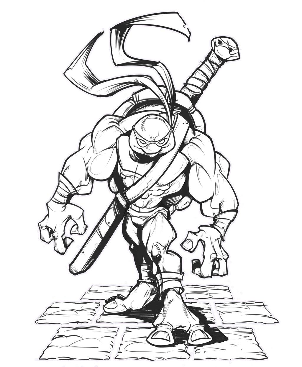 1024x1244 Ninja Turtle Lines By Kravenous