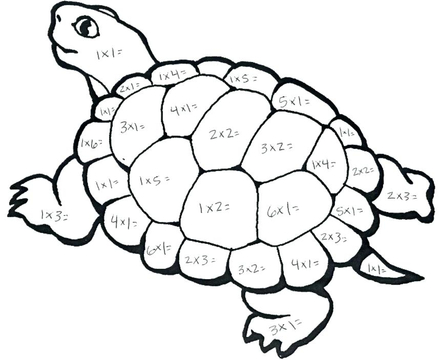 863x703 Coloring Pages Of A Turtle Print Sea Turtle Coloring Page In Full