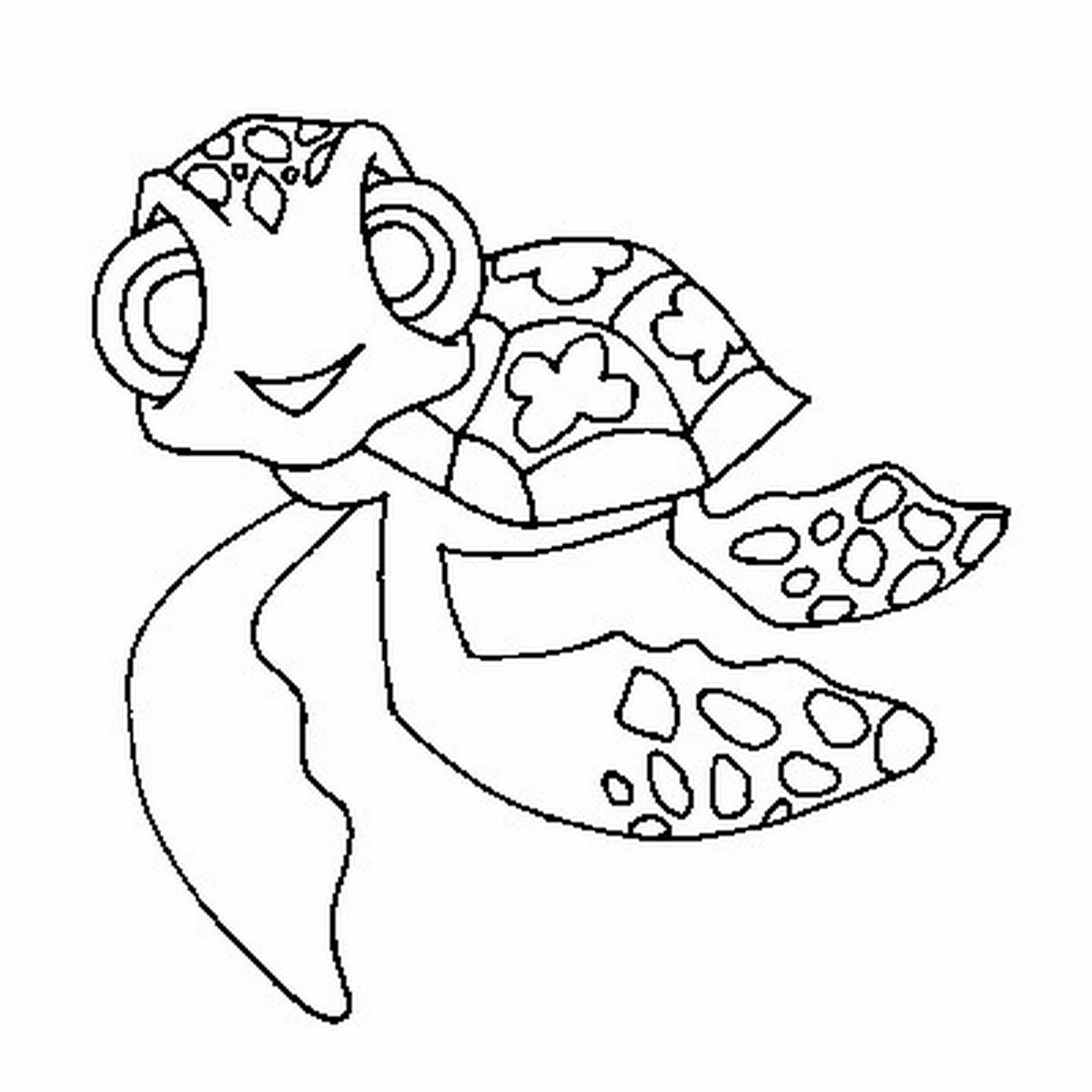 1200x1200 Sea Turtle Coloring Page