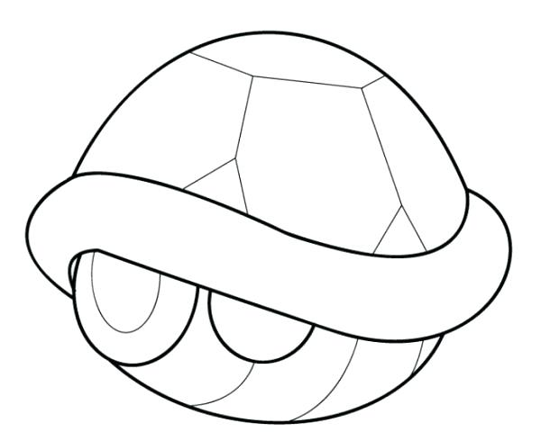 600x490 Mario Kart 8 Coloring Pages Kart Turtle Shell Coloring Page Mario