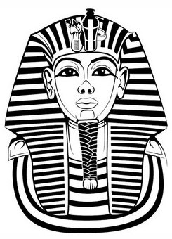 245x340 Egyptian Sarcophagus Colouring Page. Ancient Egyptian Children