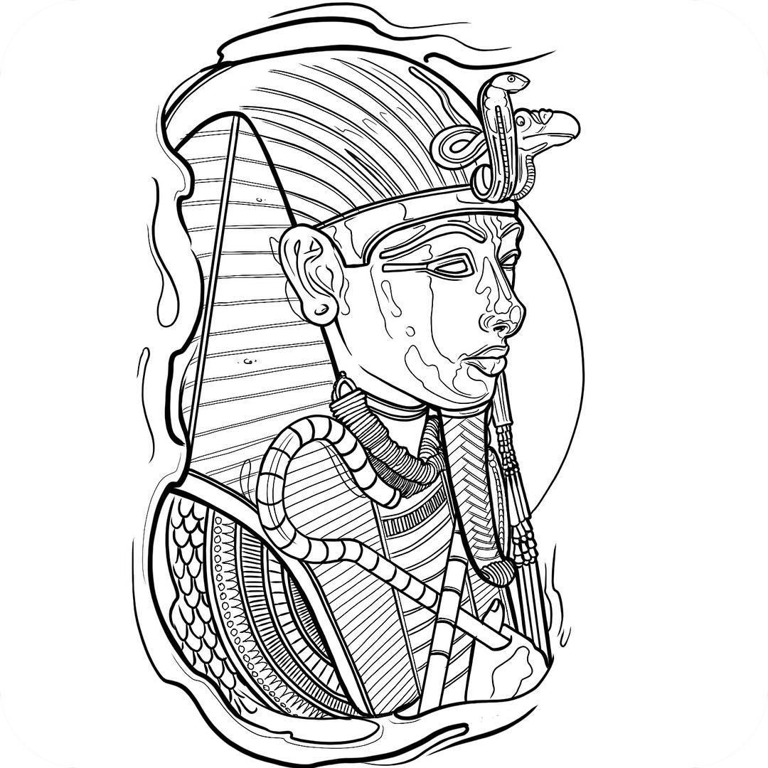 Tutankhamun Drawing at GetDrawings | Free download