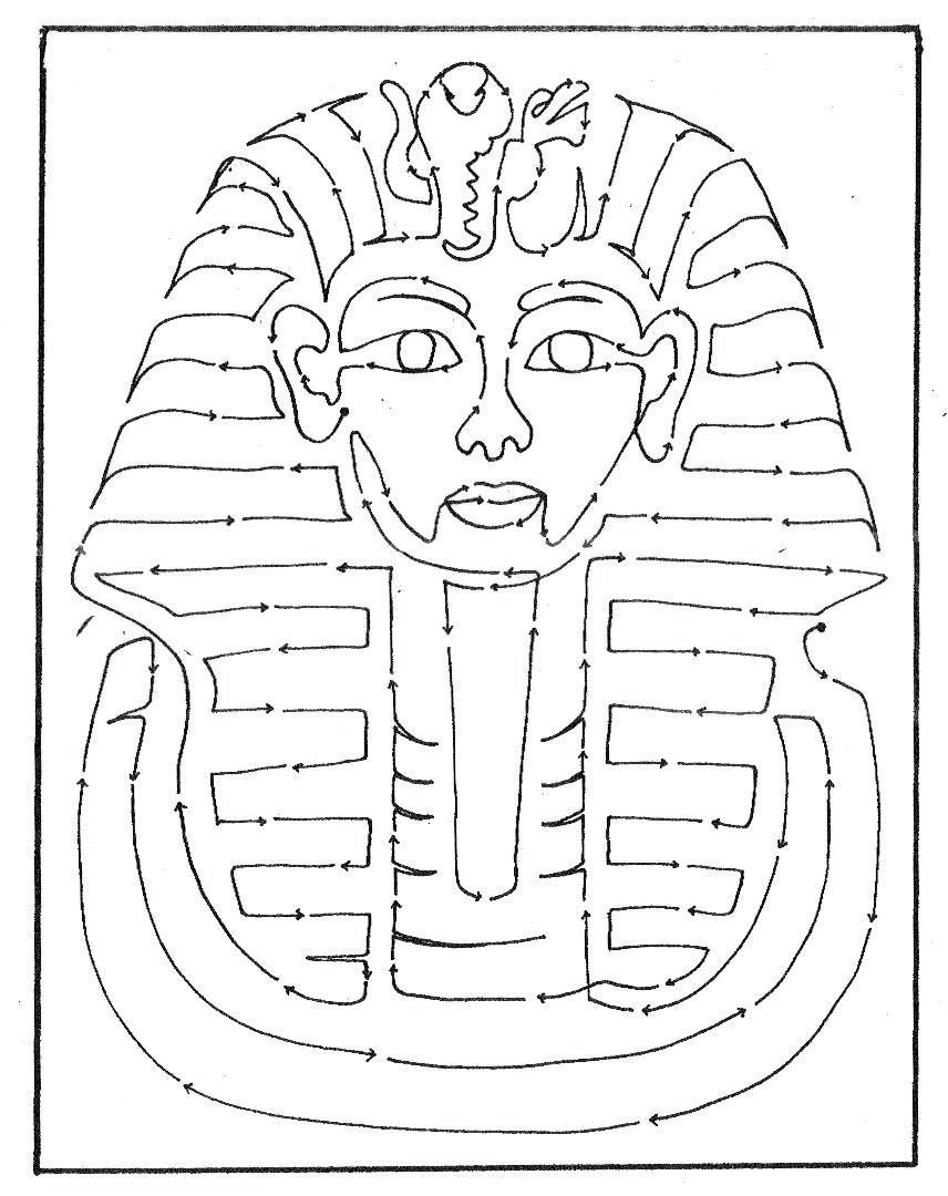 Tutankhamun drawing at free for personal for King tut mask template