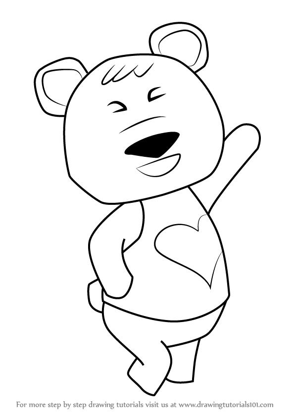 596x843 Learn How To Draw Tutu From Animal Crossing (Animal Crossing) Step