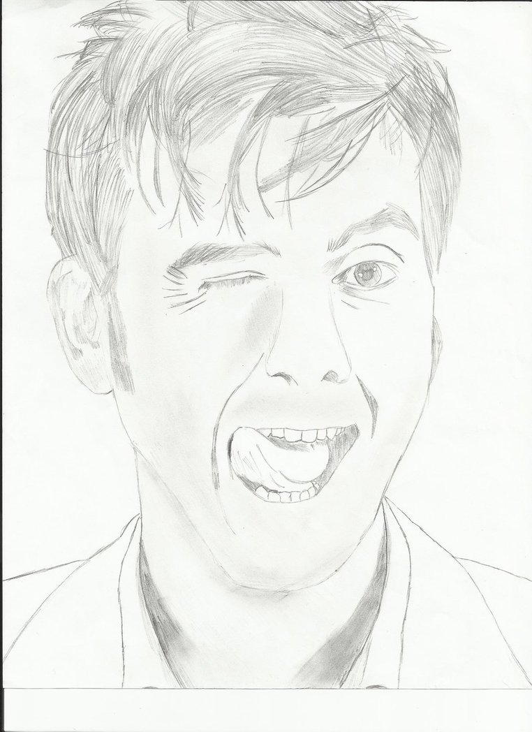 762x1048 Playful Drawing Of David Tennant By Tuxedo Mask Rose