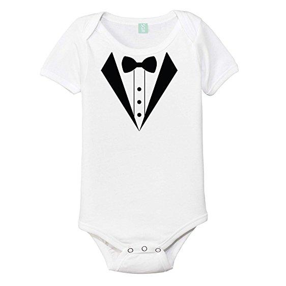 562x562 Tuxedo One Piece Baby Onesie Bodysuit Clothing