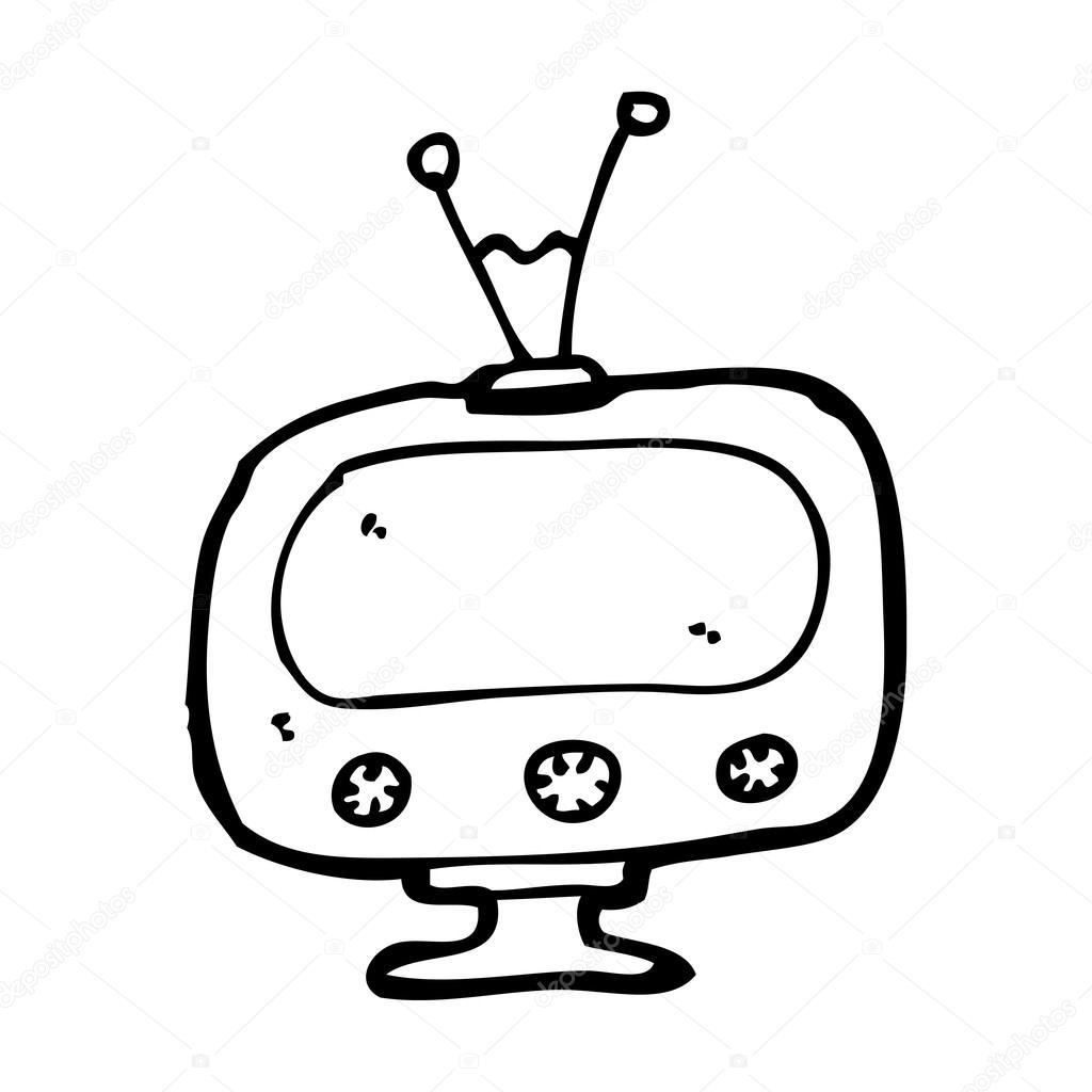 1024x1024 Retro Tv Cartoon Stock Vector Lineartestpilot