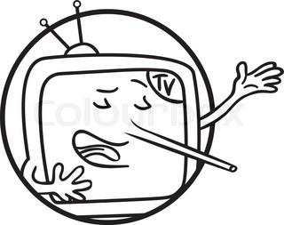 320x253 Cartoon Character Of Man With Tv Head Stock Vector Colourbox