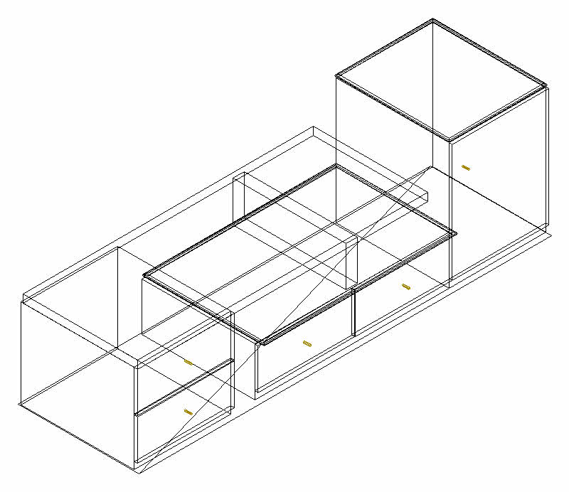 800x692 Tv Cabinet Height Cad 3d Drawings, Autocad Drawing, Autocad Dwg