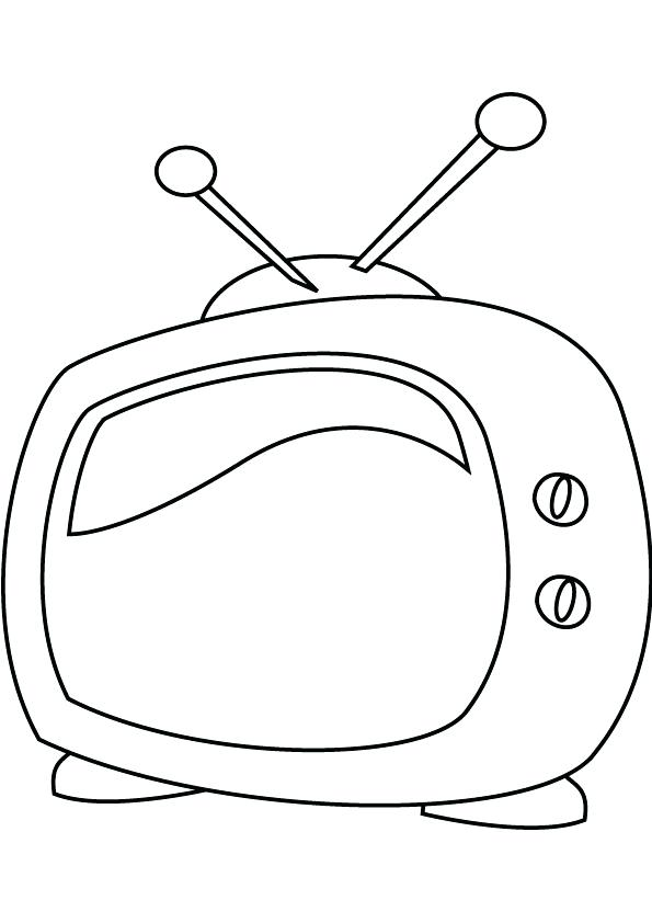 595x842 Tv Coloring Page On The Table Coloring Page Chips Tv Show Coloring