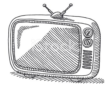 385x299 Classic Retro Tv Drawing Stock Vectors