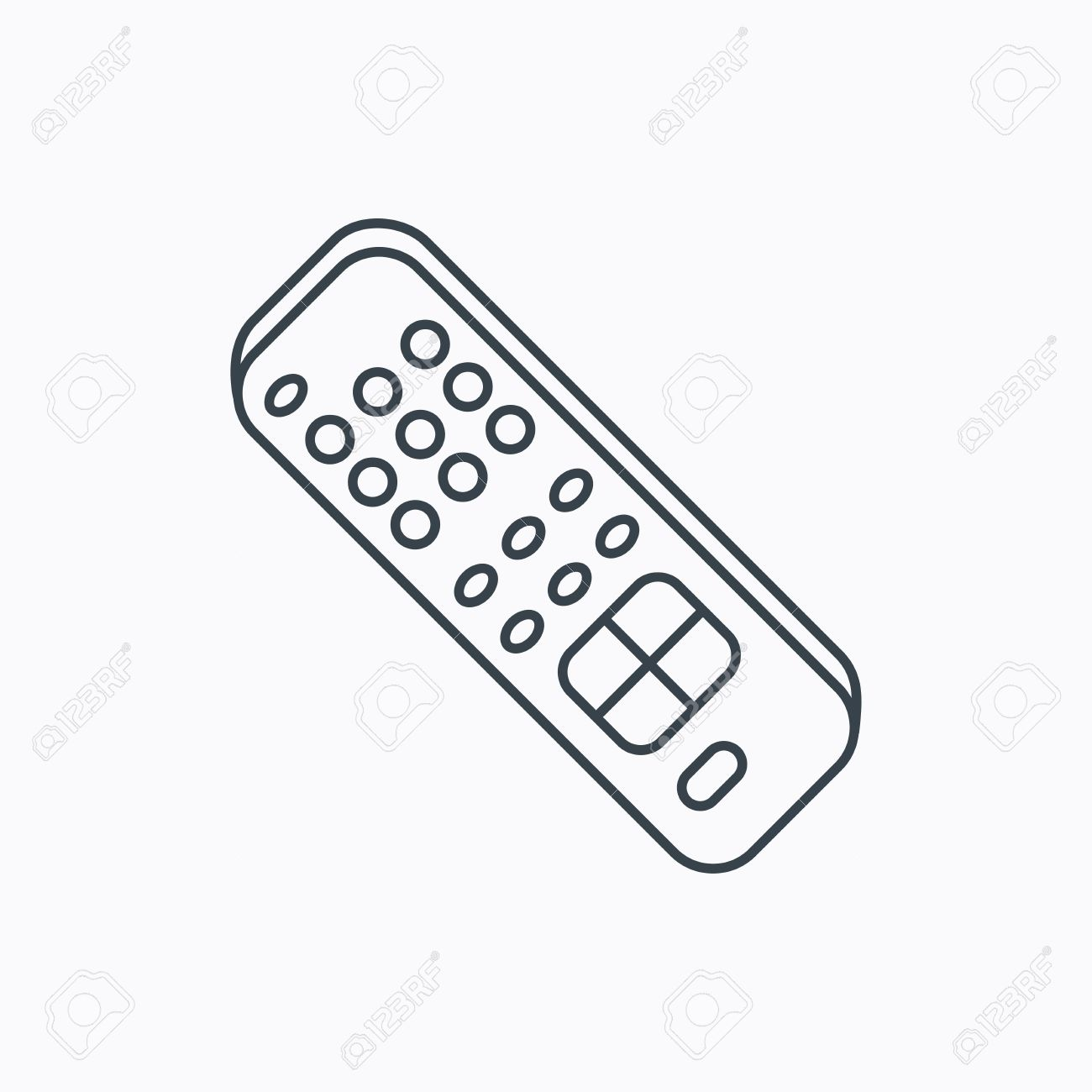 1300x1300 Remote Control Icon. Tv Switching Channels Sign. Linear Outline