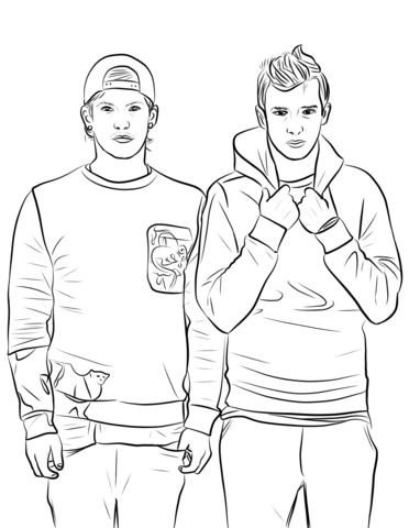 372x480 Twenty One Pilots Coloring Page Free Printable Coloring Pages