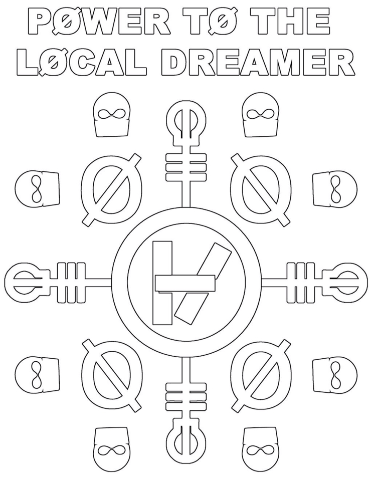 742x960 Twenty One Pilots Coloring Page. ) Twenty One Pilots