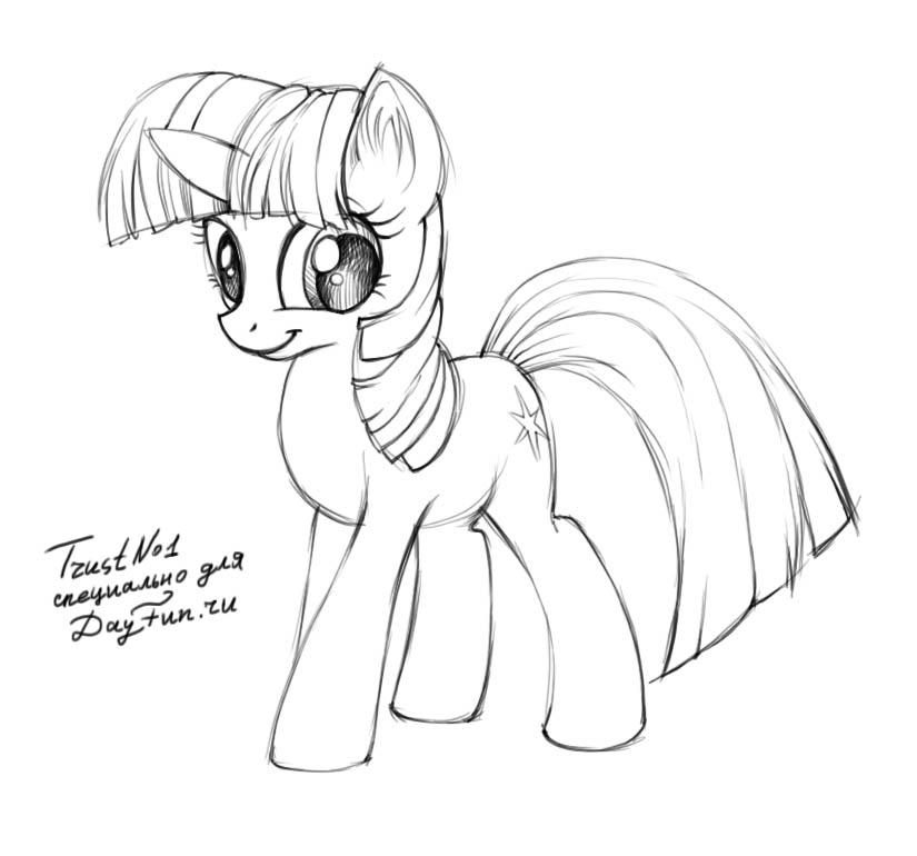 825x770 How To Draw Twilight Sparkle Alicorn Step By Step