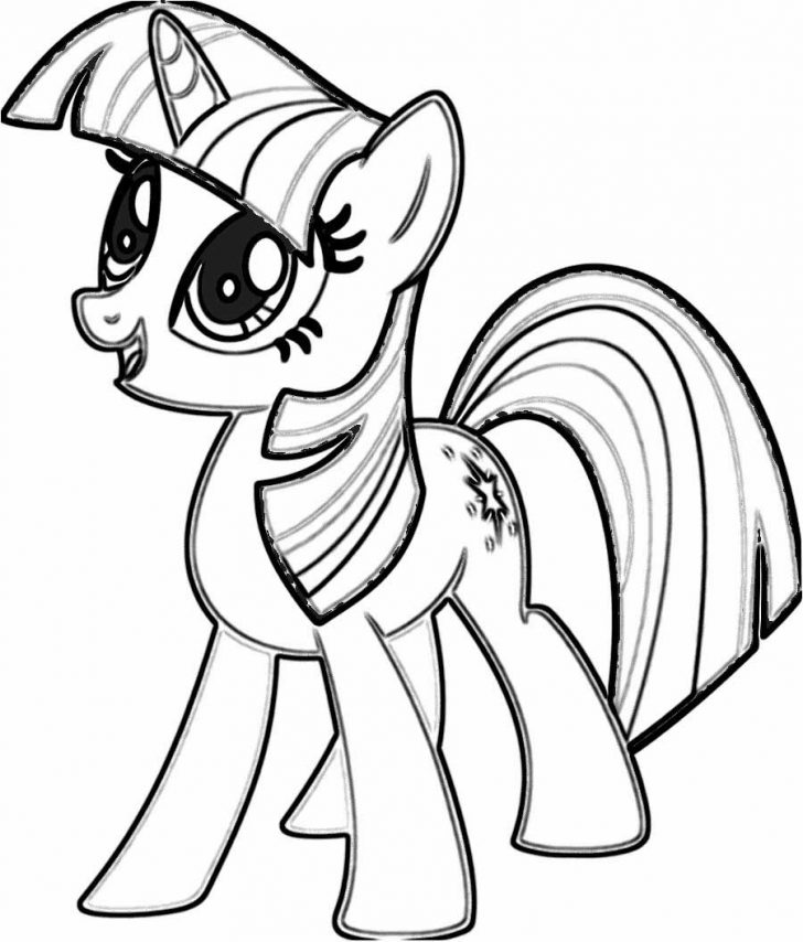 728x854 My Little Pony Coloring Pages Twilight Sparkle