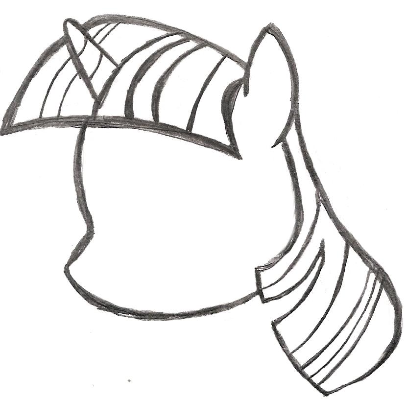 827x815 My Little Pony Sketch