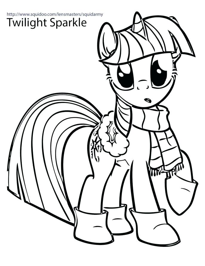 687x889 Twilight Sparkle Coloring Pages To Print My Little Pony Friendship