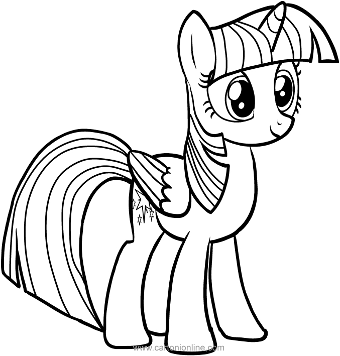 677x709 Twilight Sparkle Of My Little Pony Coloring Pages