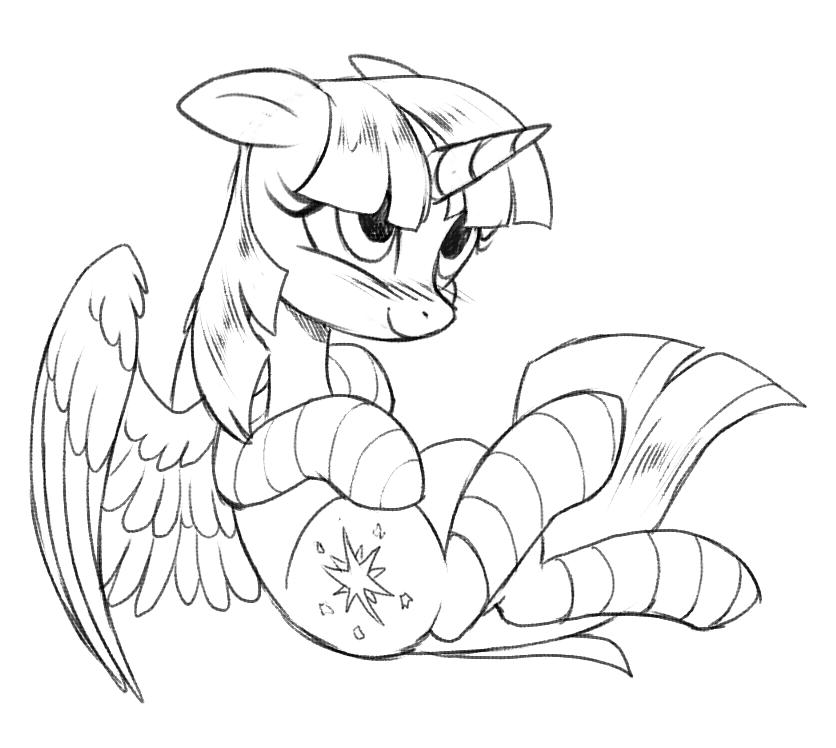 836x748 Twilight Sparkle Sketch By Miltvain