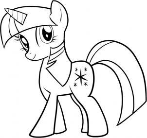302x284 How To Draw Twilight Sparkle, My Little Pony, Twilight Sparkle