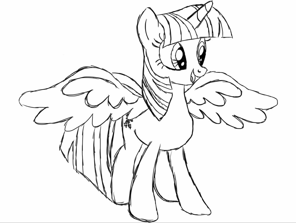 Ausmalbilder My Little Pony Equestria : Twilight Sparkle Drawing At Getdrawings Com Free For Personal Use
