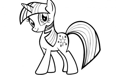 469x304 My Little Pony Coloring Pages Twilight Sparkle Just Colorings