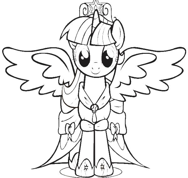 600x569 Coloring Pages Of Twilight Sparkle
