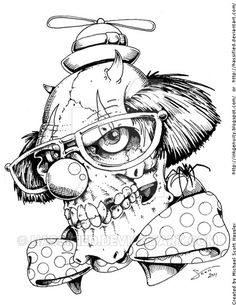 236x305 Evil Clown Tattoo Drawings Evil Jester Face Drawings Images