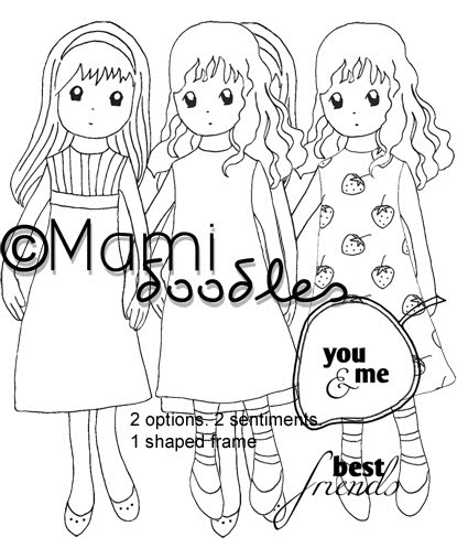 415x497 Mami Doodles Digital Stamps Best Friends