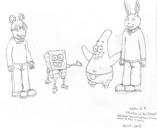 600x496 Two Pairs Of Best Friends (Uncolored) By Willm3luvtrains