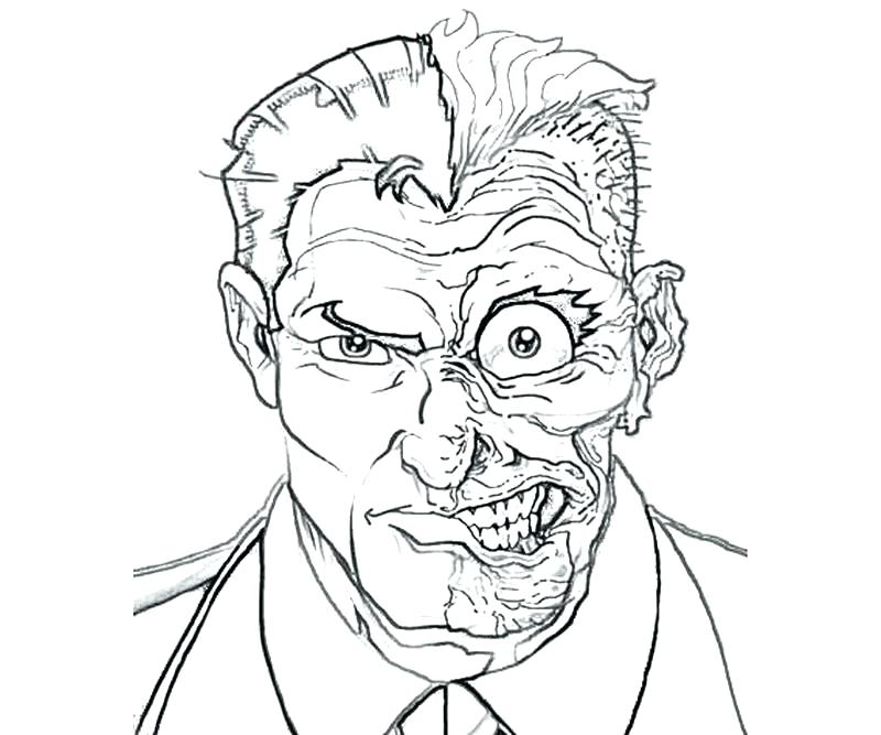 800x667 Complete Catwoman Coloring Page Best Of Pages Cool Two Face