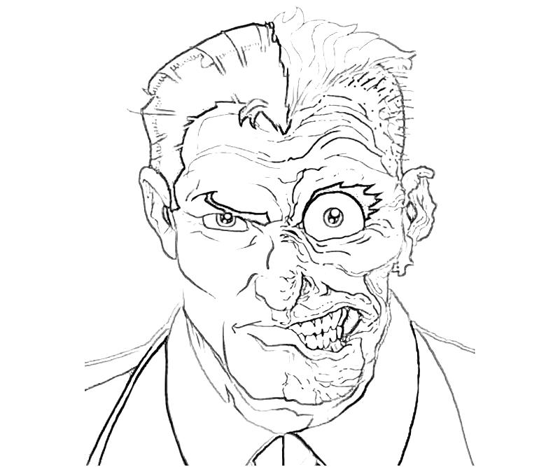 800x667 Epic Two Face Coloring Pages 67 On Picture To Coloring Page