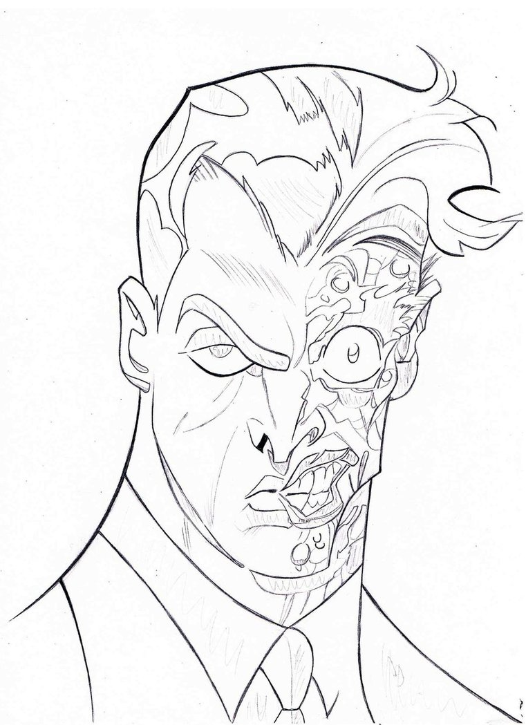 761x1049 Two Face Sketch By Thefancifulghost