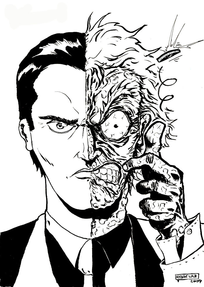 700x987 Two Face By Andre Vaz