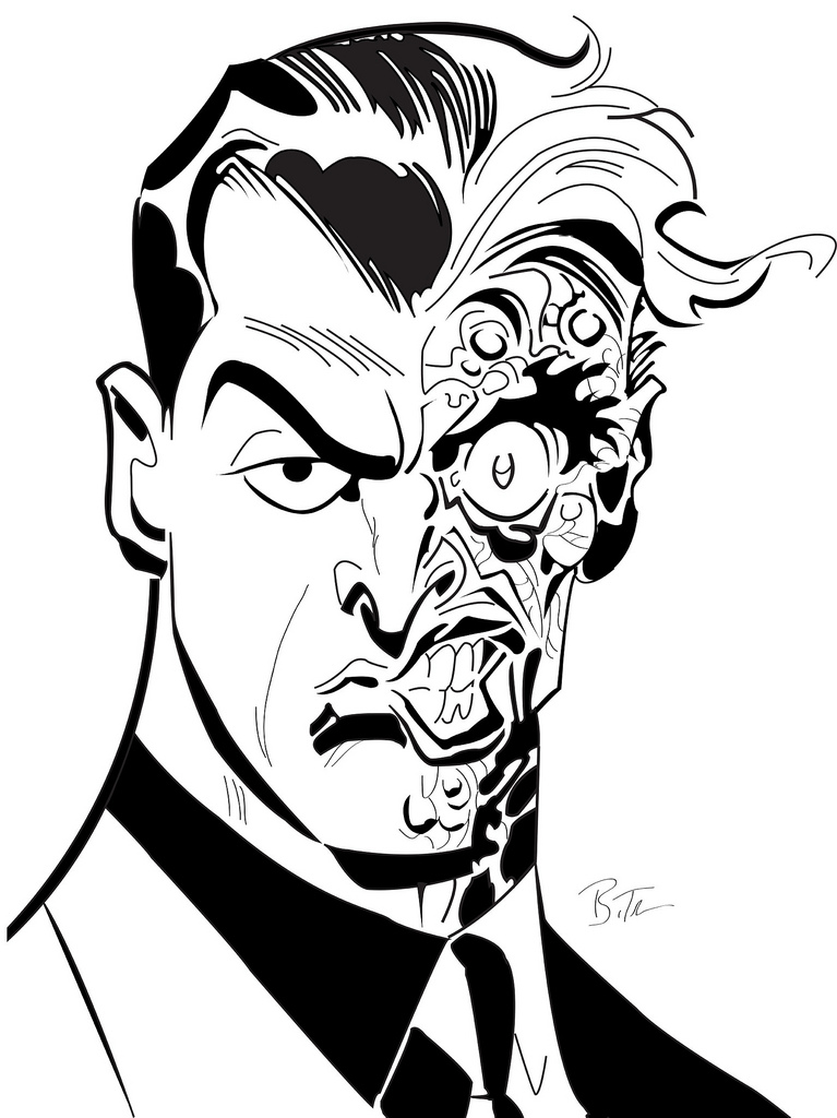 767x1024 Two Face Vector Originally Drawn By Bruce Timm Glenn.payne
