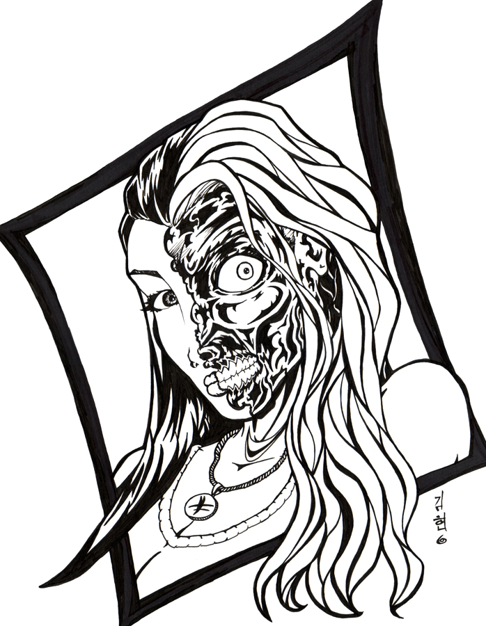 698x900 Lady Two Face By Davewkim