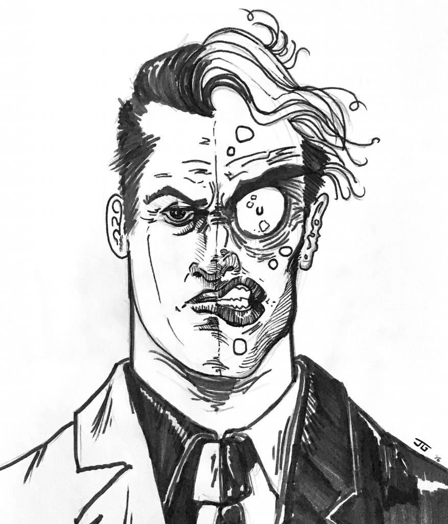 877x1024 Batman Sketch Face