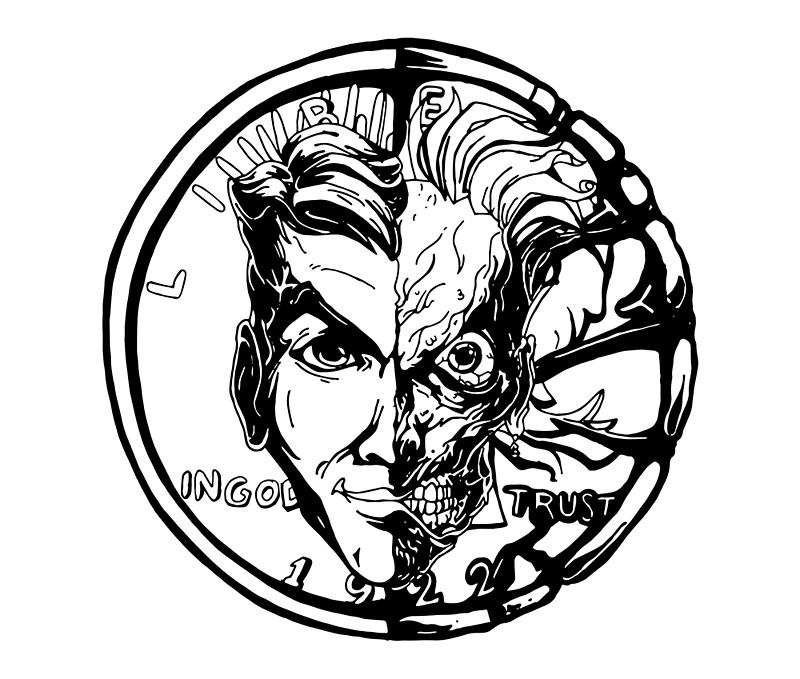 800x679 Harvey Denttwo Face Illustration Duvet Covers By Similarraptor