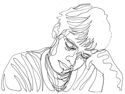 500x377 Two Minute Drawingself Portrait Drawn With One Continuous Line